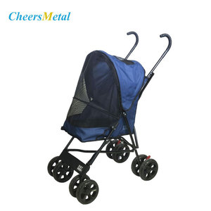 Small dog 4 wheels folding pet dog carrier strollers