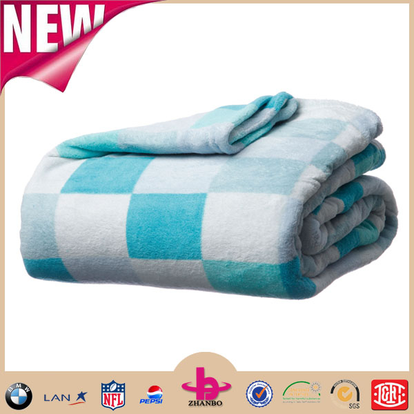 Great arrivals All seasons collection Fatacy washable reversible fuzzy extra soft microfiber thick Coral fleece blanket throw