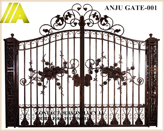 Anju Steel Gate-071 Cheap Sliding Gate Designs For Home/villa ...