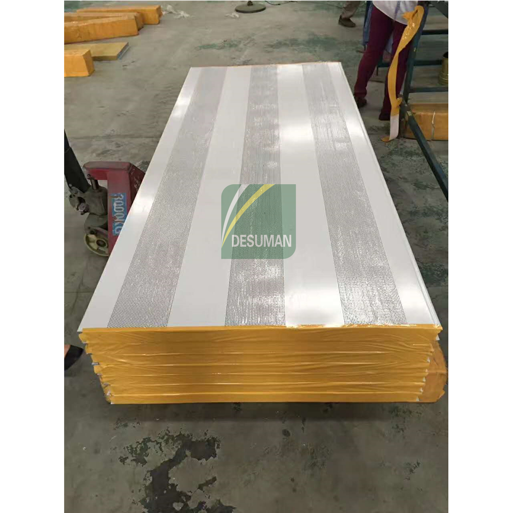 Sound Insulation Rock Wool Sandwich Panel Sound Proof Rock Wool Sandwich Roof Panel Supplier