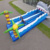 Durable two lane sharp inflatable bungee run , giant inflatable sports games for sale