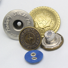 Screw Trousers Silver Metal Jeans Hook Buttons, Botones, Alloy Shank Buttons