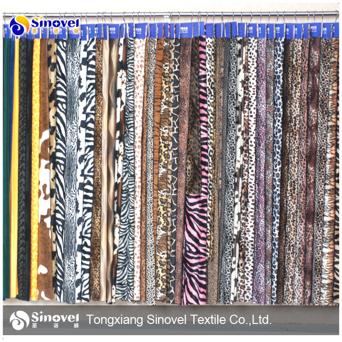 Fashion leopard animal print velvet fabric