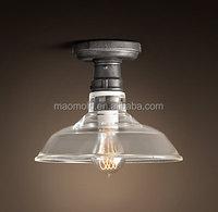 Vintage Barn Glass modern chandelier Hotel ceiling lamp glass shade