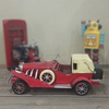 Classic old red diecast model car decoration