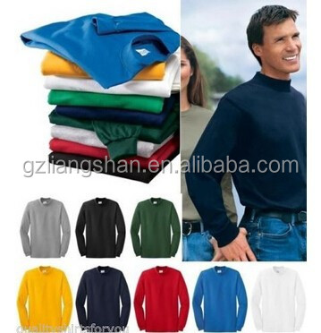 OEM Wholesale Manufacturing NEW Custom Men's 100% Cotton Mock Turtleneck Sports Golf Soccer Long Sleeve T Shirt Sweater