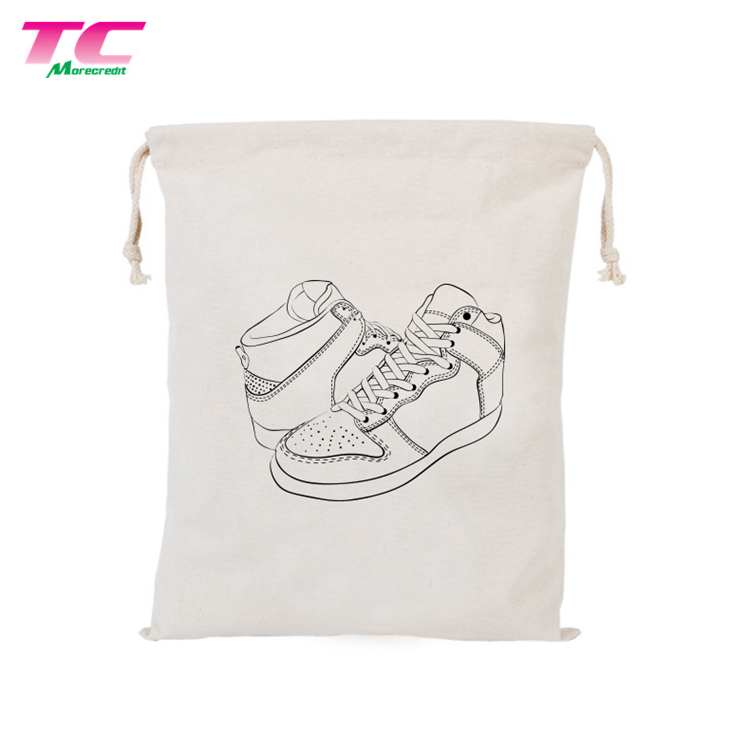 Wholesale Promotional Luxury Drawstring Shoe Dust Bag Multifunctional Travel Shoe Bags