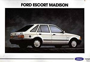 1989 FORD (D) ESCORT MADISON COLOR SALES BROCHURE (FRENCH) - EXCELLENT !!