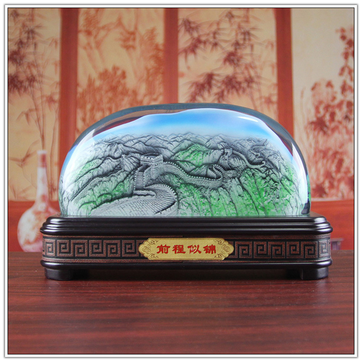 Resin Relief resin China great wall for home decoration statue