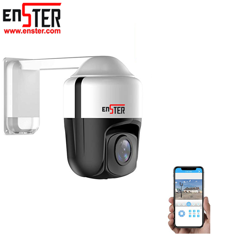 Açık Su Geçirmez Gözetim HD Güvenlik IP Kamera 1080 P Pan Tilt Dome CCTV