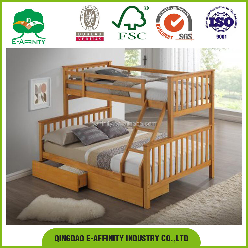 New pine white three sleeper bunkbed