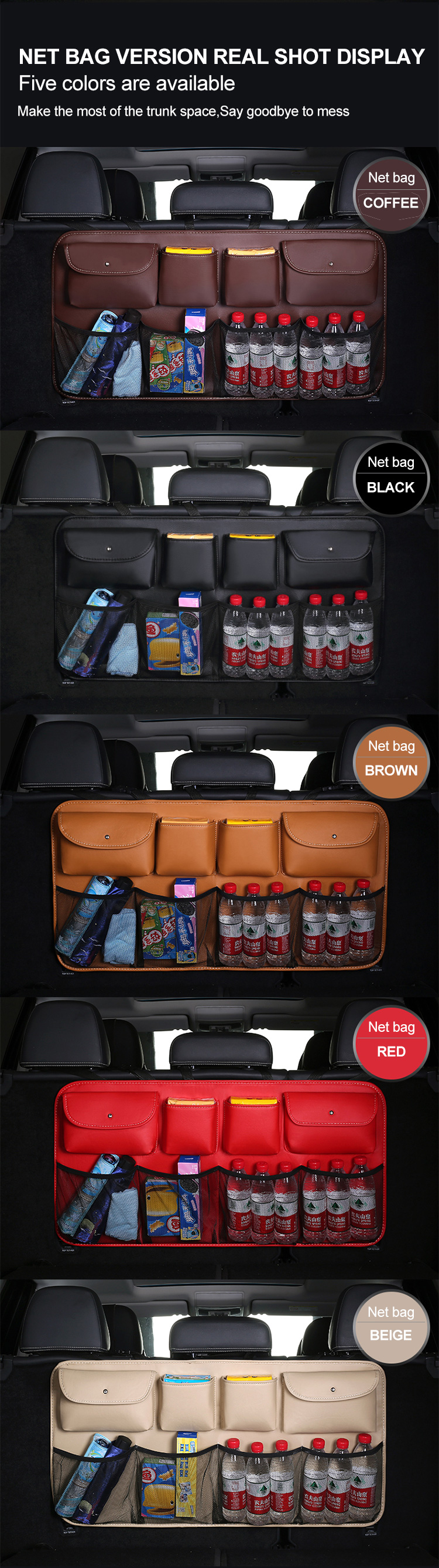 Deluxe Car Organizer Bag Backseat Organizer Storage Bag
