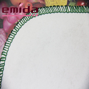 The latest 2017 Emida Europe Waterproof colorful flower petal pattern and pvc custom table cloth