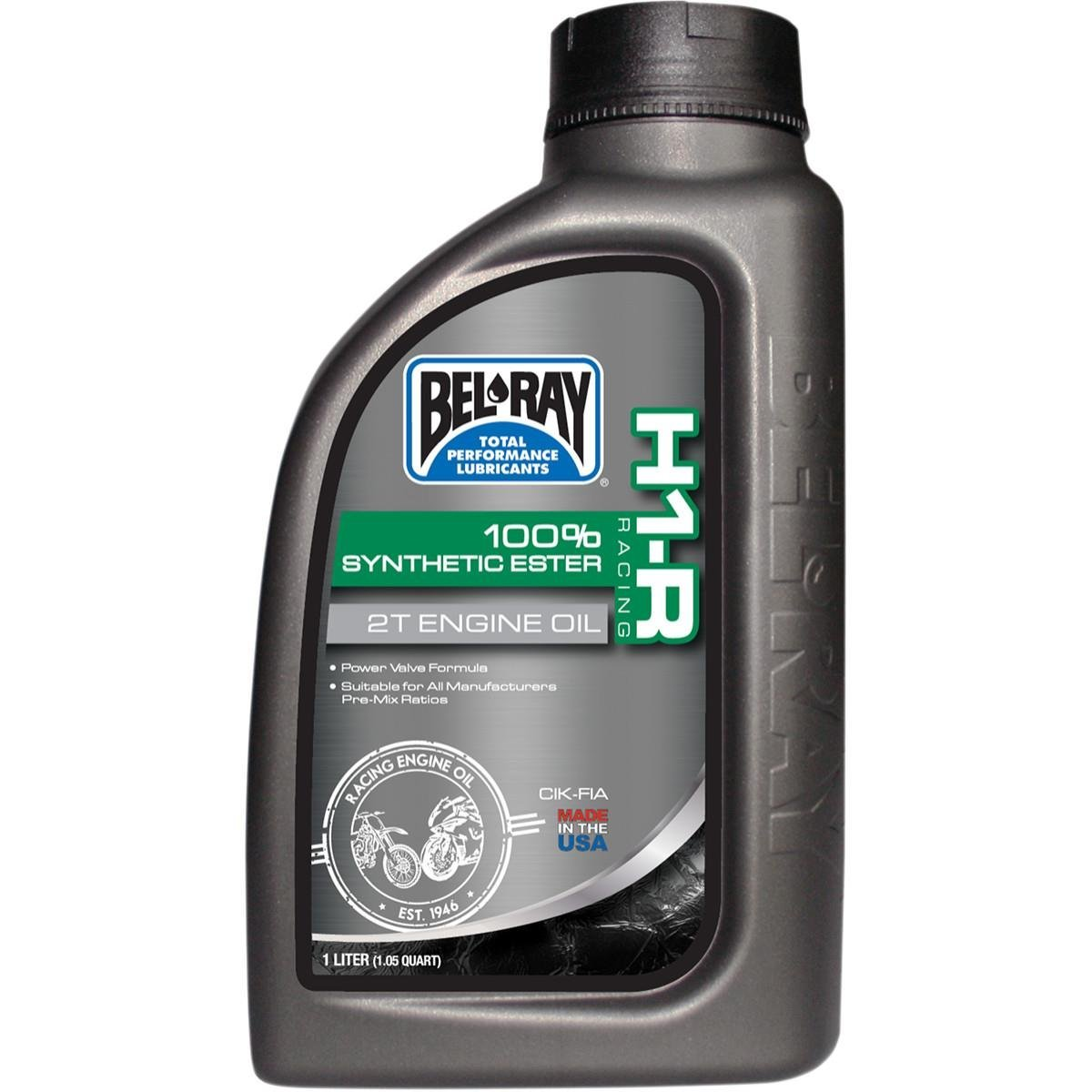 Bel-Ray H1-R Racing 100% Synthetic Ester 2T Engine Oil - 355 ml. 99280-B355W