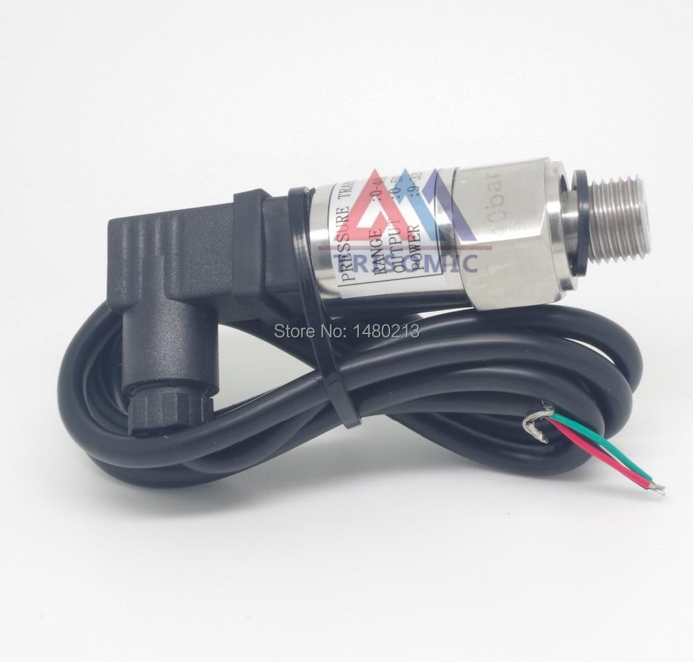 0-10bar Pressure Transmitter sensor 24VDC Input G1//4 BSPP 0-10V output