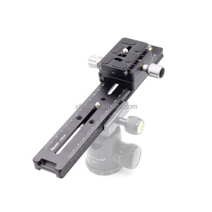 XILETU LCB-24B Track Dolly Slider Focusing Focus Rail Slider & Clamp and QR Plate Meet Arca Swiss For DSLR Camera