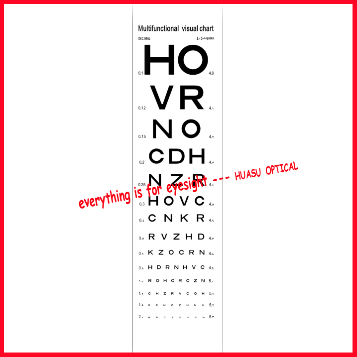 Professional Snellen Chart Eye Test Vision
