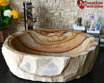Sandstein Waschbecken natürliche landschaft gelbe sandstein waschbecken buy product on