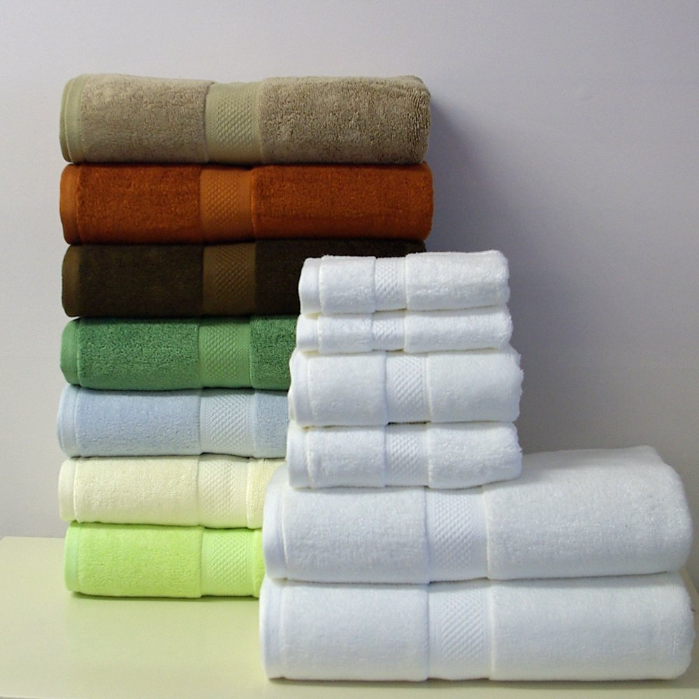 6pc Chocolate Rayon from Bamboo Blend Towel Set, Includes 2 Bath Towels, 2 Hand Towels, 2 Wash Clothes