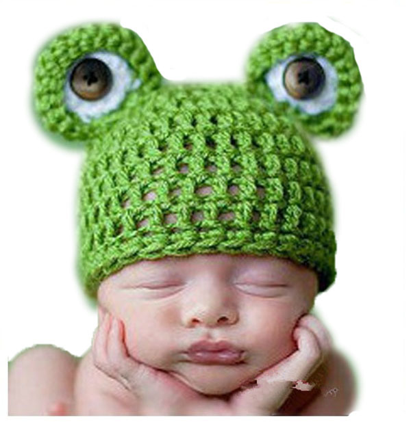 Hot Green Frog Crochet Hat Baby Unisex Crochet Frog Animal Beanie Hat Cute  Baby Crochet Hat af34da8425f5