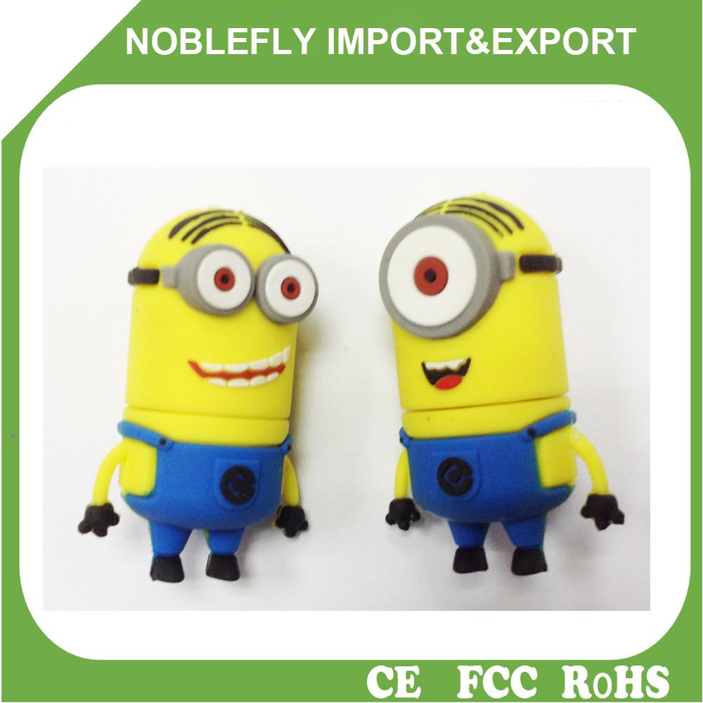 Wholesale Factory Bulk Order USB Drives Minion USB Gadgets Cartoon ...
