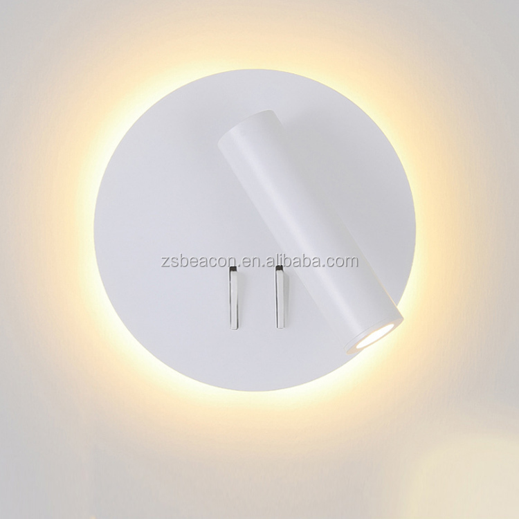 Factory Price top grade customization  villa hotel bedside wall lamp spotlight lighting with usb CE cUL