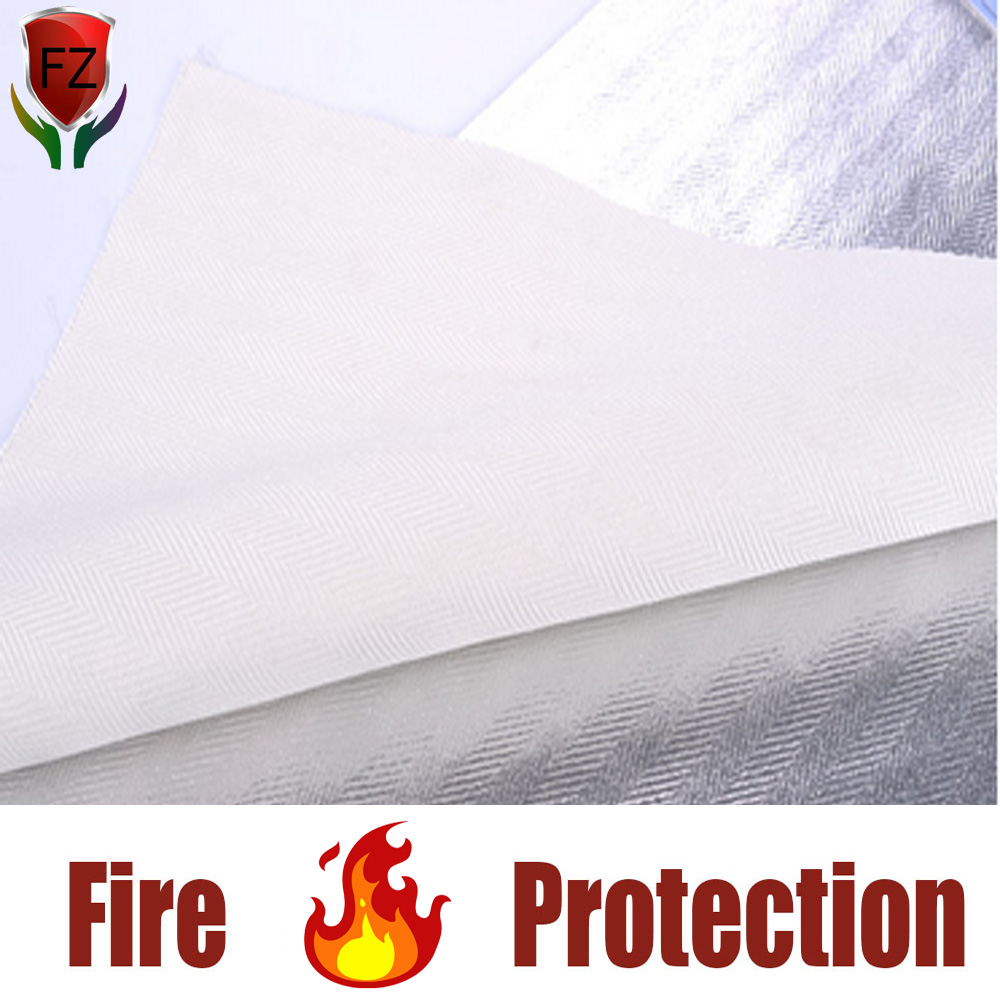 Technical reflective heat arc flash insulation glass fiber rayon aluminum foil cloth