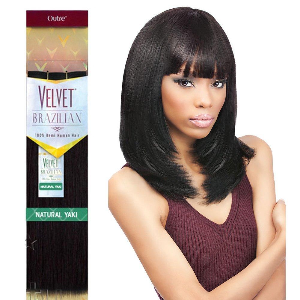 Buy Outre Remy Human Hair Weave Velvet Brazilian Natural Yaki 16