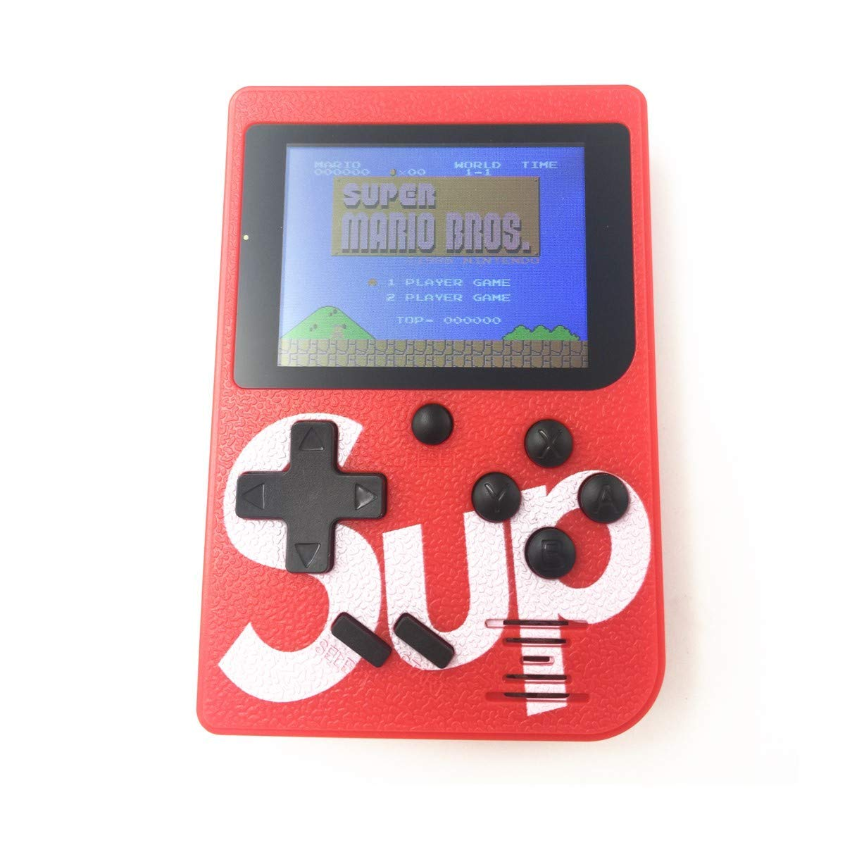 STETION Handheld Game Console, 2.4 Screen 129 Games 8 Bit Portable Handheld Game Console Player Good Gift for Children Classical Games (Red Custom Version)