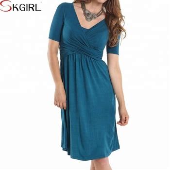 Womens Summer Faux Wrap Maternity Plus Size Pregnant Evening Dress