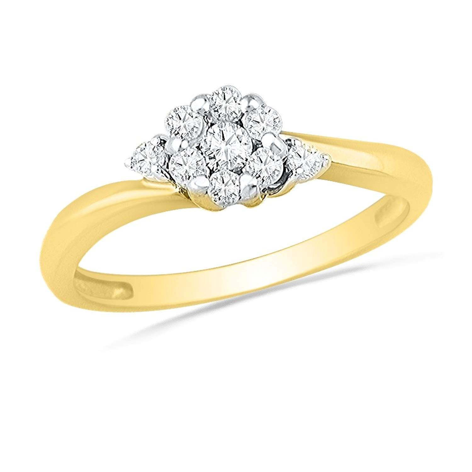 Cheap Yellow Diamond Flower Ring Find Yellow Diamond Flower Ring