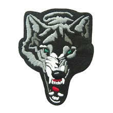 Custom design <span class=keywords><strong>wolf</strong></span> geborduurde patches