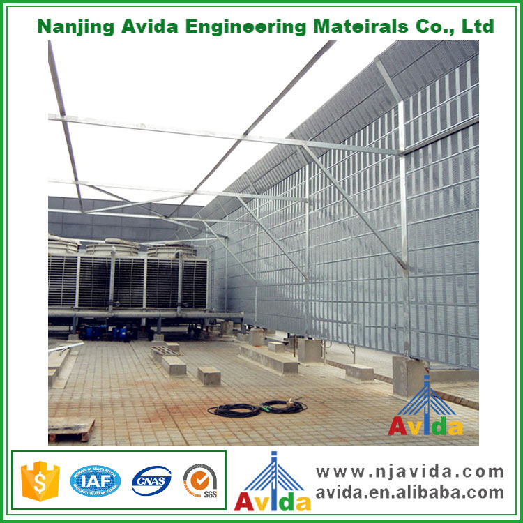 Polycarbonate Sound Absorbing Acoustic Fence