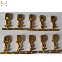 Auto motor brass crimp terminal,6.3mm male female auto connector terminal