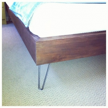6 Inch Metal Hairpin Leg With Metal Bed Frame For Bed Room Buy