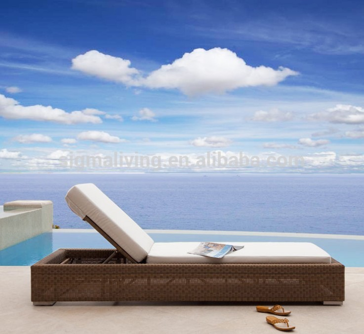2018 seaside hotel used furniture Outdoor elegant chaise lounge