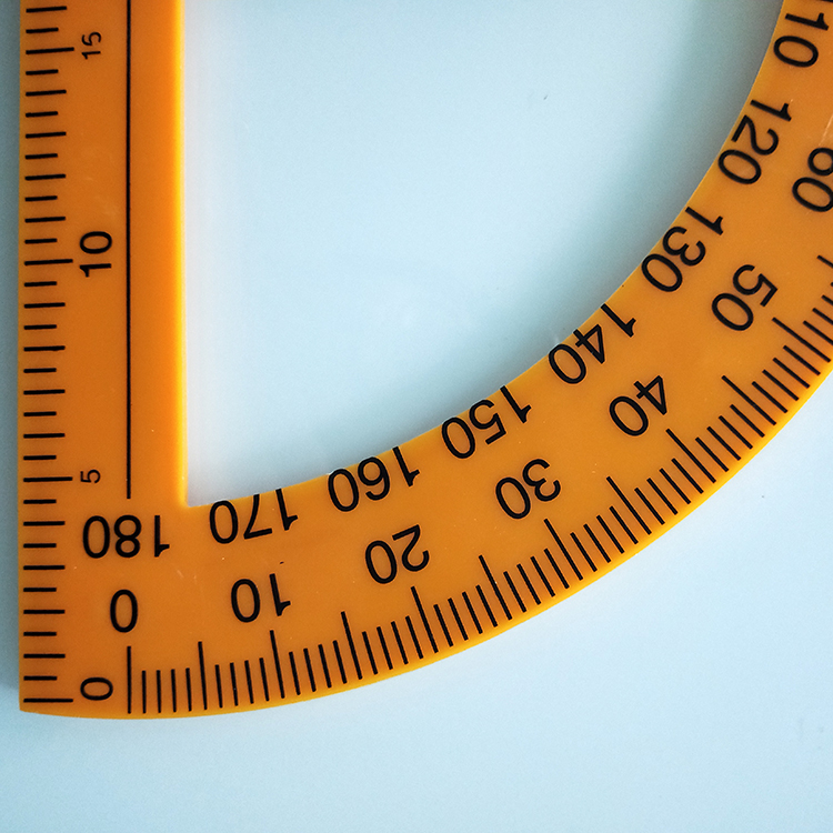 It's just a photo of Declarative Small Printable Protractor
