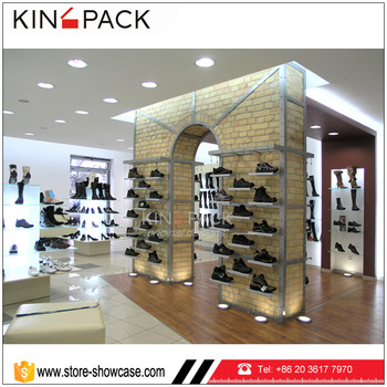Customized Small Counter Display Stands For Shoe Bag Shops With Wooden Display Shelf Buy Small Counter Display Standsfashionable Trade Show Shoe