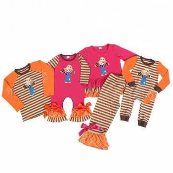 wholesale new arrival fashion scarecrow series baby clothing set