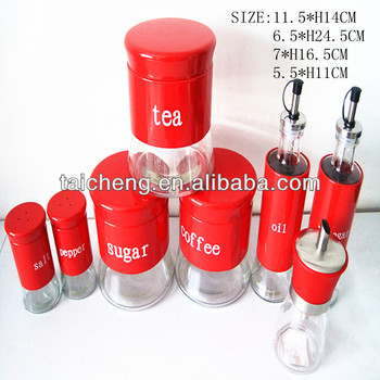Stainless Steel Kitchen Canister Sets Tea Coffee Set With