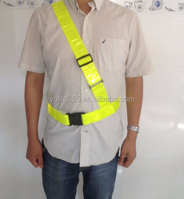 Safety Reflective Sam Browne Belt