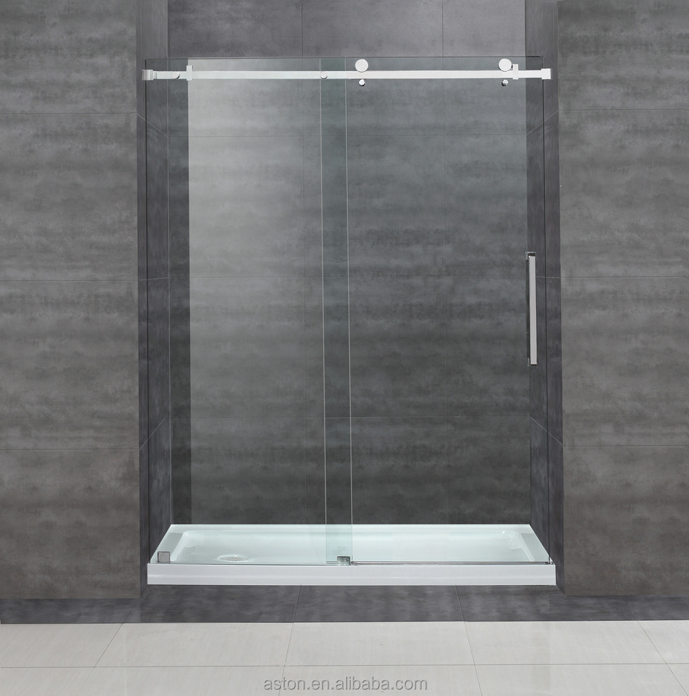 Cupc Sgcc Certified 10mm8mm Clear Sliding Glass Frameless Shower