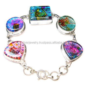 Dichroic Glass Jewelry Wholesale Silver Jewelry Sterling