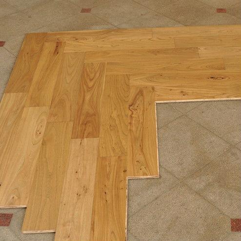 Reclaimed Elm Engineered Parquet Herringbone Wood Flooring - Buy ...