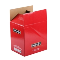 Low Price Wholesale Recycled Folding Matte Large Colored Corrugated Cardboard Show Boxes