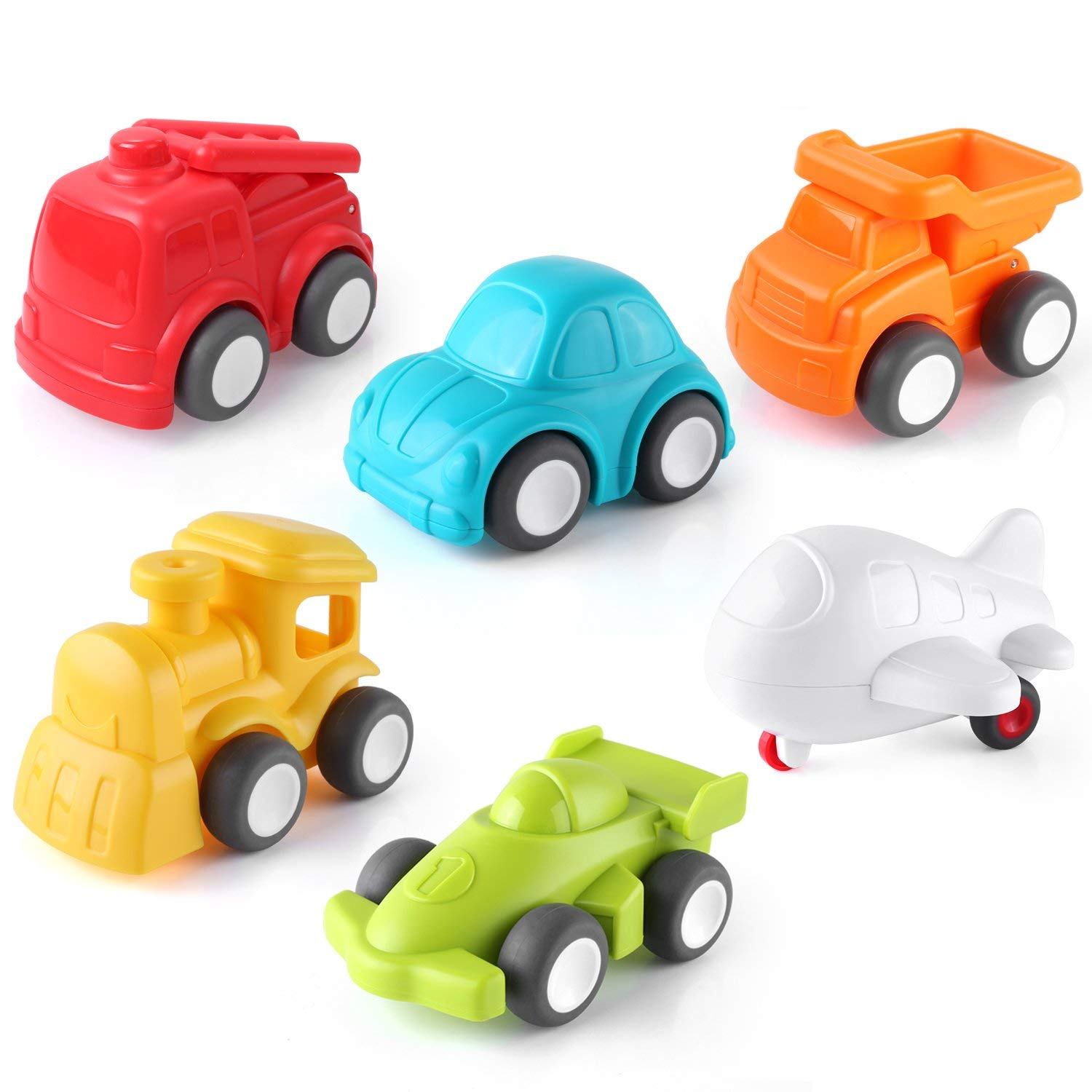 Pedy Car Toys, 6 Pack Toddler Toys Vehicles, Push and Go Cars Vehicles, Baby Toy Car for 6 to 12 Months Boys & Girls