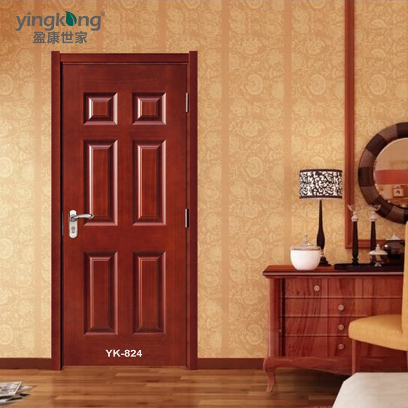 Yk824 interior home entry wood door front modern teak wood for Minimalist door design