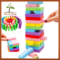 Lotus Wood 48 Pieces Large Rainbows Child'S Game Domino Games Manufacturers Wooden Diy Stick Building Blocks Toys