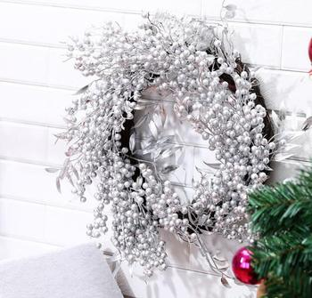 Xmas Home Decorations Muur Ornamenten Zilver Kerstkrans Decoraties