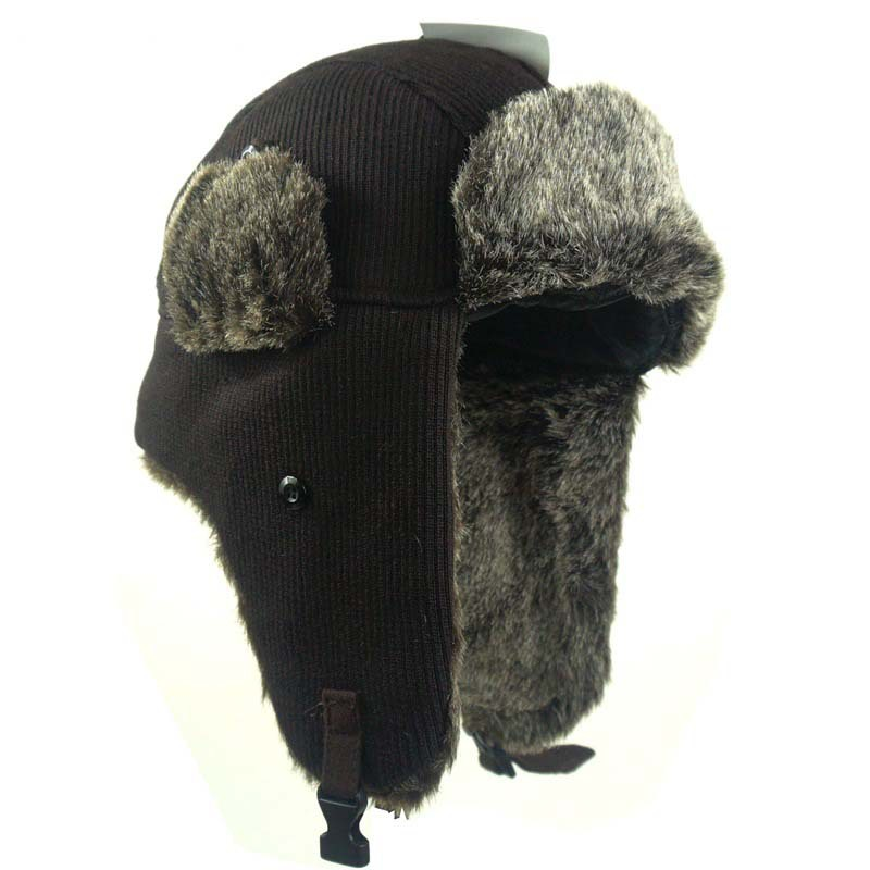 8f6a9126c1c43e Get Quotations · Women Men Winter Trooper, Trapper, Or Hunting Hat Faux Fur  Hats With Ears Earflap